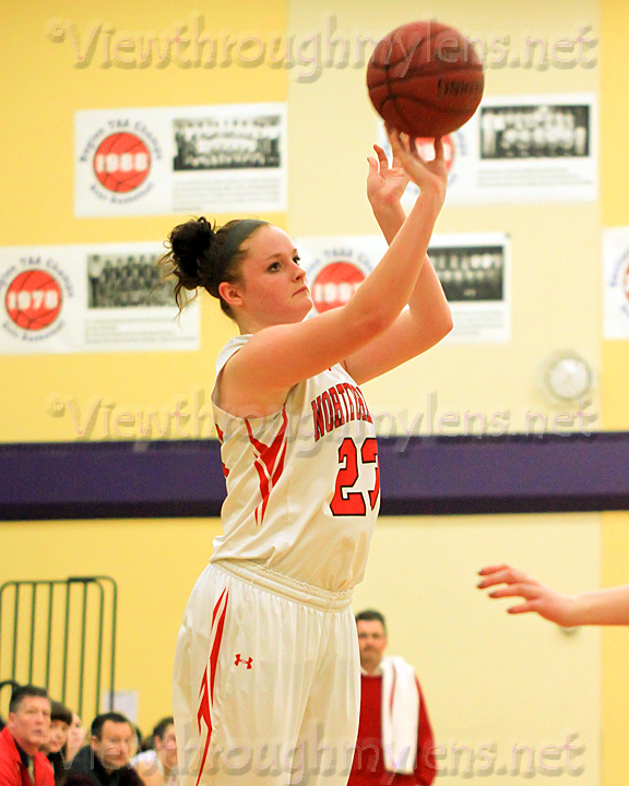North Branch's Sara Lekson fires up a three-pointer in the Wood City Classic.