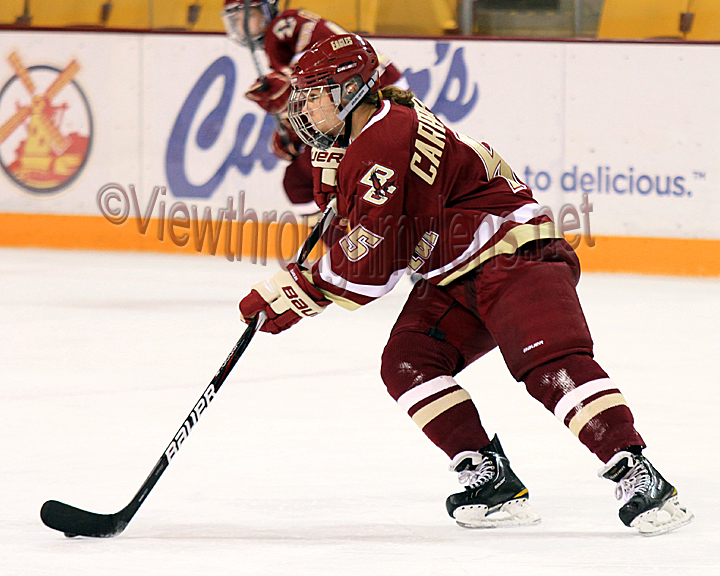 Boston College's Alex Carpenter scored with .4 seconds on the clock to beat UMD 3-2